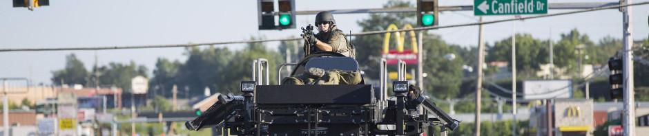 140814-ferguson-police_armored-troop-carrier