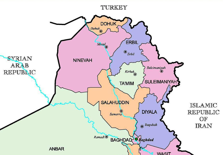 Map of northern Iraq